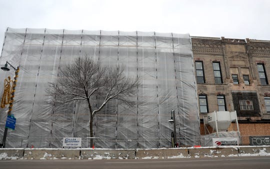 Gabriel Lofts, under construction at 201 E. College Ave., will expand the housing options in downtown Appleton.