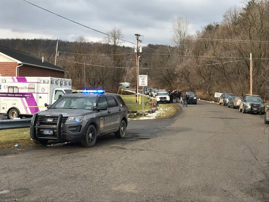 A Pennsylvania state trooper was shot Tuesday, Dec. 10, 2019, while checking on the welfare of a person on Barney Hill Road in Nelson Township, Tioga County, Pennsylvania.