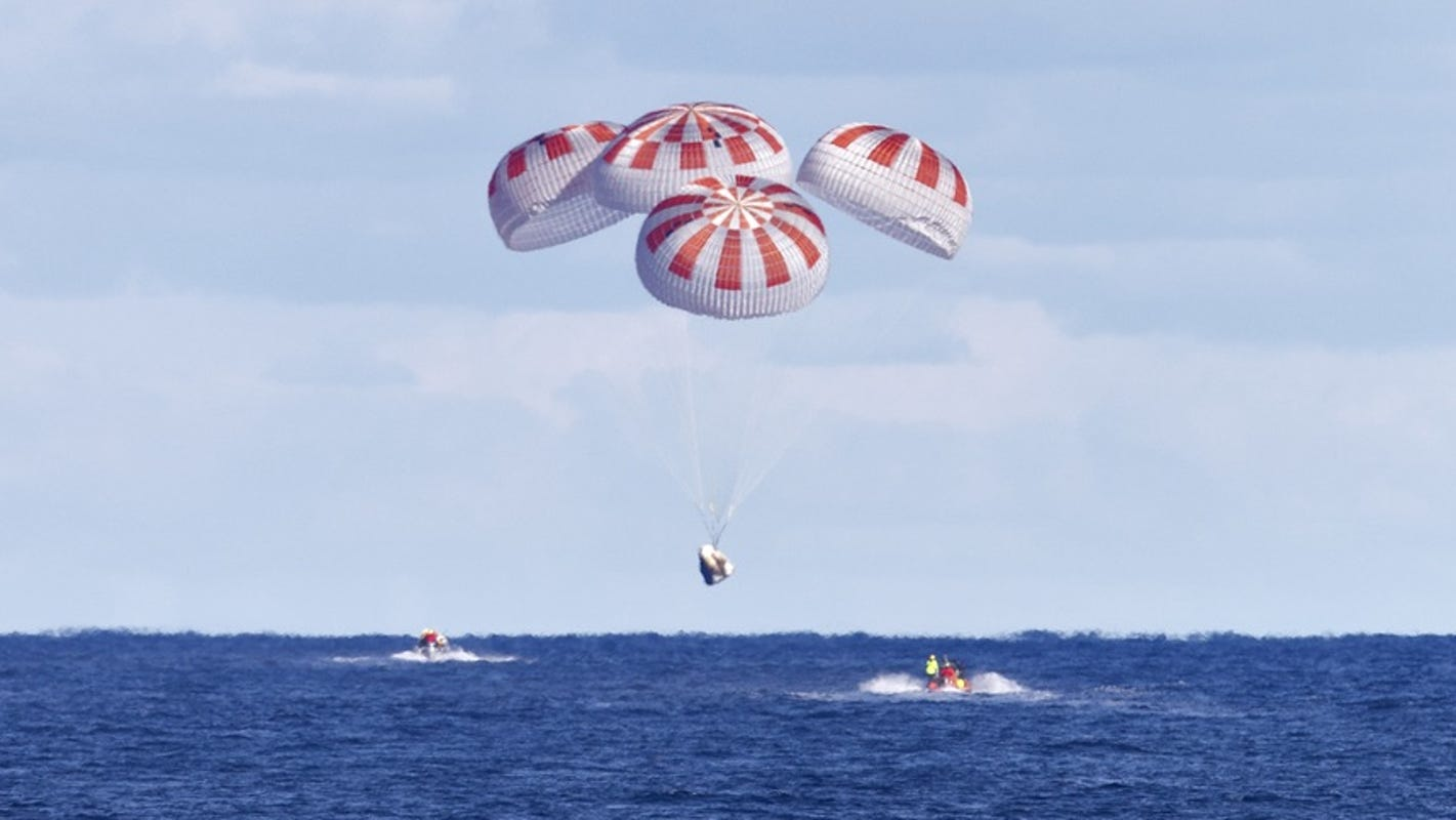 'Isaias may actually help': NASA plans Sunday splashdown of SpaceX capsule off Florida coast