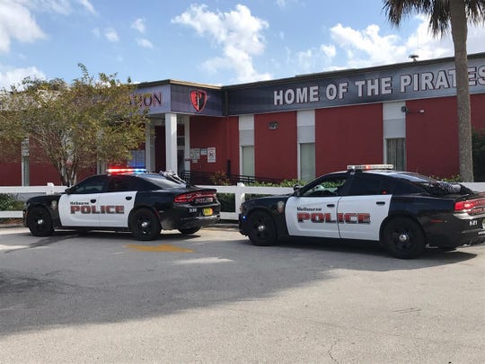 Melbourne police were at Palm Bay High School Dec. 10, 2019. Several students were taken into custody.