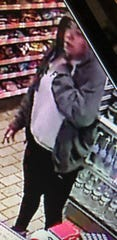 Cherry Hill police want to identify the woman in this surveillance photo after an armed robbery of the 7-Eleven on Chapel Avenue.
