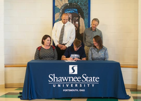 Adena cross country's Noah Kanniard signed to run at Shawnee State University on Dec. 10, 2019. Kanniard, along with Unioto's Eric Hacker and Waverly's Aidan Judd, ran in the State Cross Country meet and all three have signed to run at Shawnee.