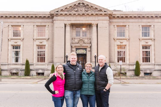 From left, Michelle, Josh, Beth and Terry Staley are the owners of The Postmark, a new wedding and event venue in downtown Chillicothe.