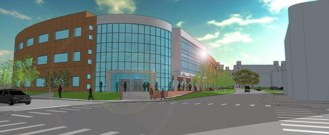 The 114,600-square-foot, three-story Health Professions Building will be located on Eighth Street, just north of the Maynard Mathematics and Computer Science Building.