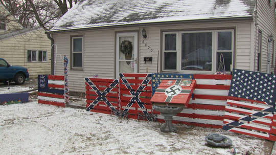 Swastika, Confederate flags on display near Iowa elementary school 'sickens' school officials
