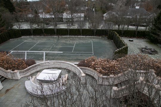 This Bloomfield Hills home features a clay tennis court. Photographed Tuesday Dec. 10, 2019.