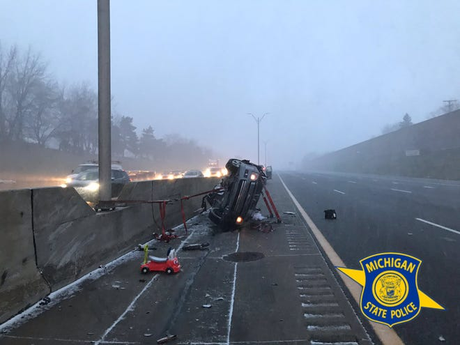 A one-year-old boy was killed in this two-car crash Tuesday morning on eastbound I-94 in St. Clair Shores.