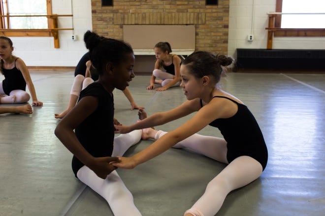 Ballet dance students at Interlochen Arts Camp