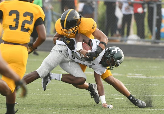 Detroit King's Jaylen Reed got in on 119 tackles while forcing seven fumbles.
