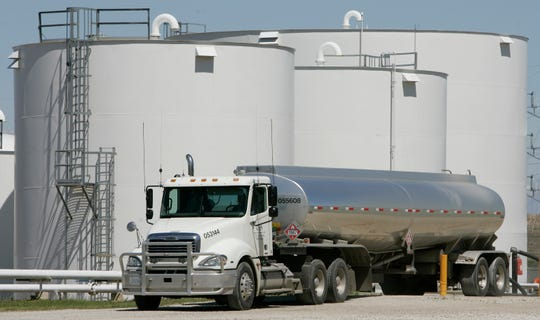A flotilla of trucks would be required to replace the 540,000 barrel-a-day capacity of Line 5, which would drive up costs, analysts say.