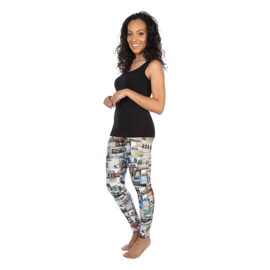 skinnytees' Detroit Has Legs leggings ($56) features images of 32 iconic Detroit buildings. A portion of each sale goes to Cass Community Social Services.