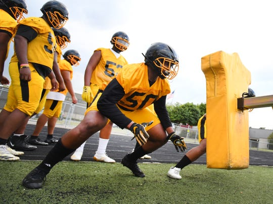 Tackle Deon Buford was the anchor of an offensive line which helped Detroit King average 40 points a game on its way to the PSL championship and trip to the Division 2 state championship game at Ford Field.