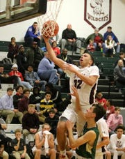 Devin Dennard of Elmira goes up for a layup in a 65-30 win over Vestal in boys basketball Dec. 9, 2019 at Elmira High School.