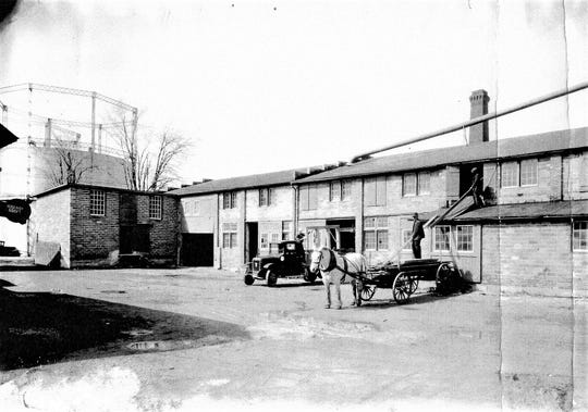 The Price Lumber company on North Front Street, Fremont, in the 1920s.