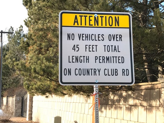 Larimer County is considering additional restrictions on trucks using Country Club Road.
