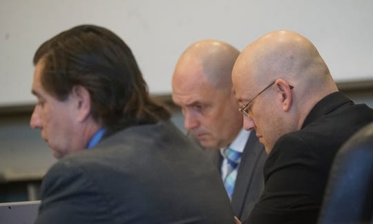 Mark Sievers sits in on his trial during the penalty phase in his trial on Tuesday. Sievers was found guilty last week in the murder of his wife Teresa Sievers. The jury will decide if he receives life in prison or the death penalty.