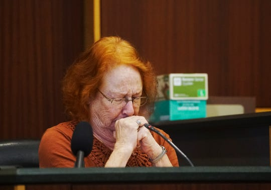 Bonnie Sievers, the mother of Mark Sievers testifies during the penalty phase in the trial of Mark Sievers. Sievers was found guilty last week in the murder of his wife Teresa Sievers. The jury will decide if he receives life in prison or the death penalty.