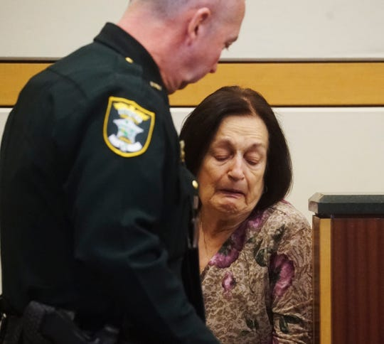 Mary Ann Groves, the mother of Teresa Sievers testifies during the penalty phase in the trial of Mark Sievers.  Mark Sievers was found guilty last week in the murder of his wife Teresa Sievers. The jury will decide if he receives life in prison or the death penalty.