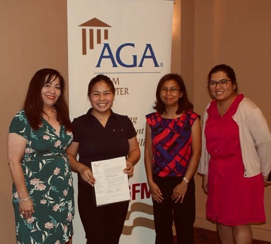 The Association of Governmental Accountants Guam Chapter presented  Fall 2019 AGA scholarship to Siarra Johnston Cruz from Guam Community College on Nov. 20.