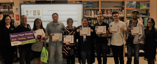 "Congratulations to Tiyan High School's teachers who have been voted as favorites by their students through Sylvan Learning Center's sixth annual ""My Favorite Teacher"" online voting.  In honor of their dedication towards education, each teacher will be presented with a certificate. To celebrate Sylvan's 30 Years on Guam, the top 30 teachers will receive a monetary donation for any school initiative as well as donations from other local companies. Crystal Nelson (director of Sylvan Learning Center), Joel Punzalan (assistant principal for discipline), Dymphnia San Nicolas Diaz, Ellery Paz, Lindsey Bennett, Andrealline Mayoyo-Buan, Patrick Borja, Ihmar Aldana, Mr. Rommel Losinio, and Dr. Patricia Taitano (principal for attendance)."