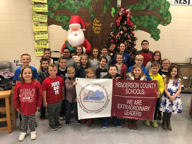 The East Heights Elementary School Leaders of the Month for November 2019 are, first row from left, Alyssa Woodard, Bryant Newman, Cash Blemker, Zane Shoff, Cristian Jones, Maggie Carrier, Camden Duff, and Natalie Morton. Second row from left: Drake Thomas, Wyatt Evenden, Conner Williams, Peyton Jenkins, Grant Carrier, Natalynn Bickwermert, Gareth Wilson, Sierra Carter, and Aubrey Mills. Third row from left, Addie Moore, Emilio Santillan, Laney Throgmorton, Addison Kirtley, Will Schwartz, Gracie Mills, and Daniel Harris.