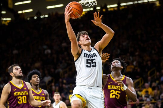 Luke Garza has scored 88 points in Iowa's last three games, including a 21-point, 10-rebound performance Monday against Minnesota. But he has six career points in two games against Iowa State, something he'd like to change.