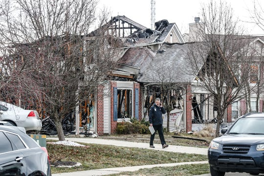 A 59-year-old woman was killed in a house fire this morning in the 2600 block of Rothe Lane, near East 30th Street and North Cumberland Road, in Indianapolis, Tuesday, Dec. 10, 2019. Firefighters arrived about 4:22 a.m. to find wind-fueled flames raging.