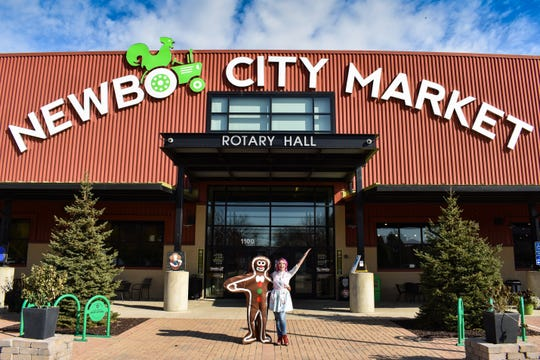 Exterior of NewBo City Market in Cedar Rapids.