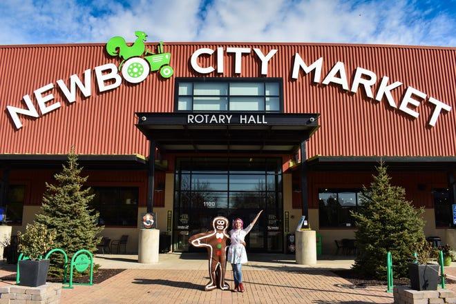 Exterior of NewBo City Market in Cedar Rapids.