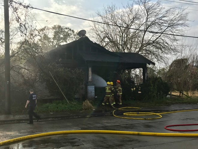 Fire destroys vacant East Second Street home on Monday.