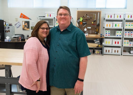 Brian and Donielle Watkins of Lafayette are working to create a community in which individuals with disabilities can live, work and play. Together they created the nonprofit D.R.E.A.M.S. Foundation more than 10 years ago to provide activities like baseball, theater, yoga and swimming. Monday, Dec. 9, 2019.
