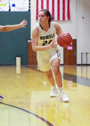 Meagan Tucker scored 17 points for Howell in a 57-46 victory at Midland Dow.