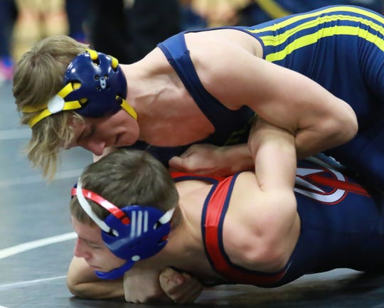 Ethan Kinch (top) is one of two returning state placers for Hartland.