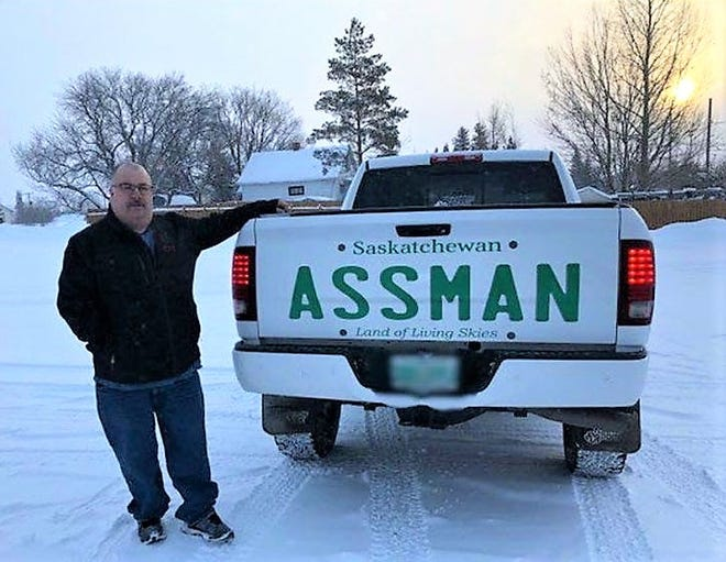 After David Assman was denied a plate bearing his name of the province of Saskatchewan, he took the matter in his own hands.