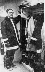 Kurt Munn is pictured in firefighter gear in this LSJ file photo from 1980.