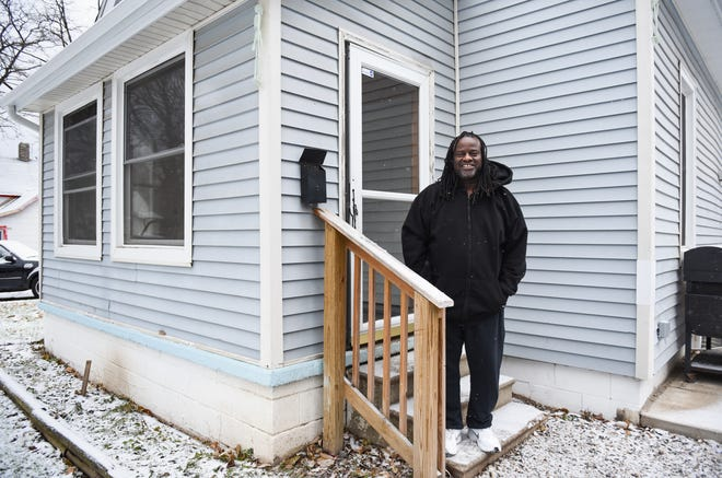 """I am truly blessed,"" Army veteran Randy Donald of Lansing, a single father with three teenagers says Tuesday morning, Dec. 10, 2019, while talking about repairs done at his home last summer after securing a grant through Habitat for Humanity's Priority Home Repair program."