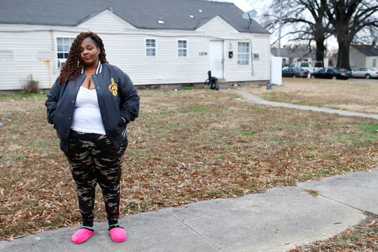 Jacqueline Parson talks about her daughter Sierra Parson, 32, who was shot and killed late Sunday night in the Evergreen Gardens neighborhood, leaving behind 10 children ages 6-months to 15 years old. Jacqueline is now taking care of the ten children, in the four bedroom home seen in the background, and is hoping to soon gain full custody.