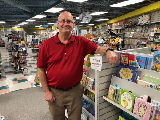 Learning Shop owner Todd Merryfield reflected on his 32 years in the family business inside the Brookfield location of the Learning Shop.