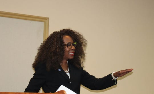 """Monroe City Council Chair Juanita Woods discusses """"fight the blight"""" ordinances passed by the city council in 2016 as she announces she is running for reelection in District 3."""