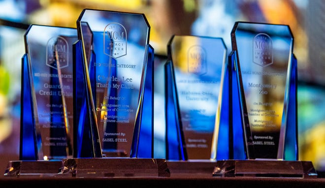 The Impact Makers Awards are given out during the Montgomery Area Chamber of Commerce annual Meeting is held in Montgomery, Ala., on Tuesday December 10, 2019.