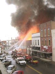 The 2004 Downtown Dickson fire, the day of the Christmas Parade.