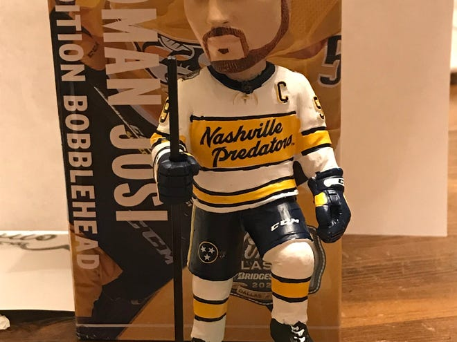 Roman Josi bobblehead to be handed out to the first 8,000 fans at Tuesday's game