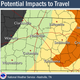 Potential travel impacts in Middle Tennessee due to winter weather