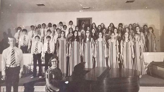The youth choir of the First Baptist Church of Naples is pictured in the '70s.