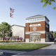 A concept sketch of the envisioned Granville Community Center that would be located across from Granville High School. Two ballot issues to help fund the center were to appear on the March ballot but the decision was recently made to remove them from the ballot.