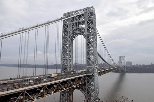 The George Washington Bridge in Fort Lee, N.J. on Tuesday Dec. 10, 2019.