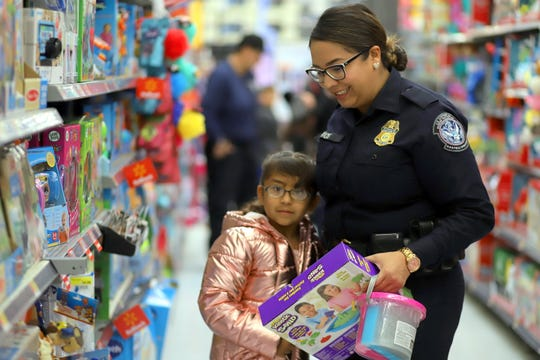 Young shoppers had plenty of help from law enforcement during the Luna County Shop with a Cop event on Saturday at the Deming Walmart Super Center.
