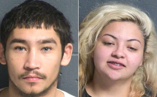 Angelo Rey Espinosa and Lorena Ariana Marin are accused of robbing a Subway sandwich shop in Las Cruces on Dec. 9, 2019.