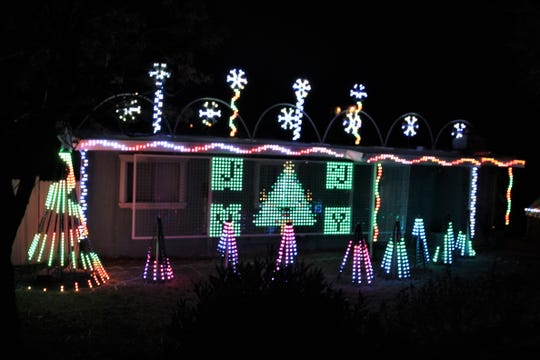 Another synced Christmas light show is located at 1755 E. Griggs Avenue across Beverly Hills Hall.