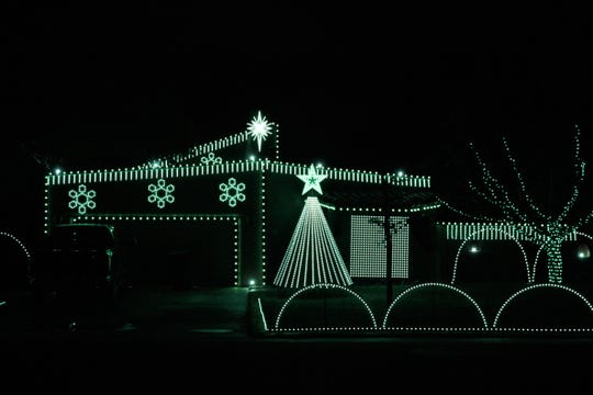 This impressive synced Christmas light display is located at 4041 Egyptian Street. Definitely a must see!